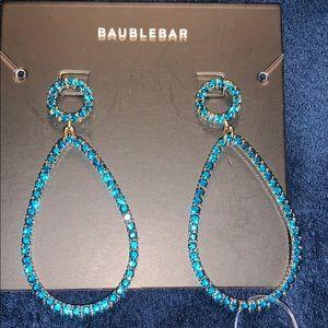 Bauble Bar Blue Rhinestone Drop Earrings